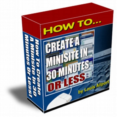 Product picture How To Create A Minisite In 30 Minutes Or Less