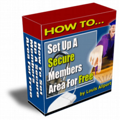 Product picture How To Set Up A Secure Members Area For Free